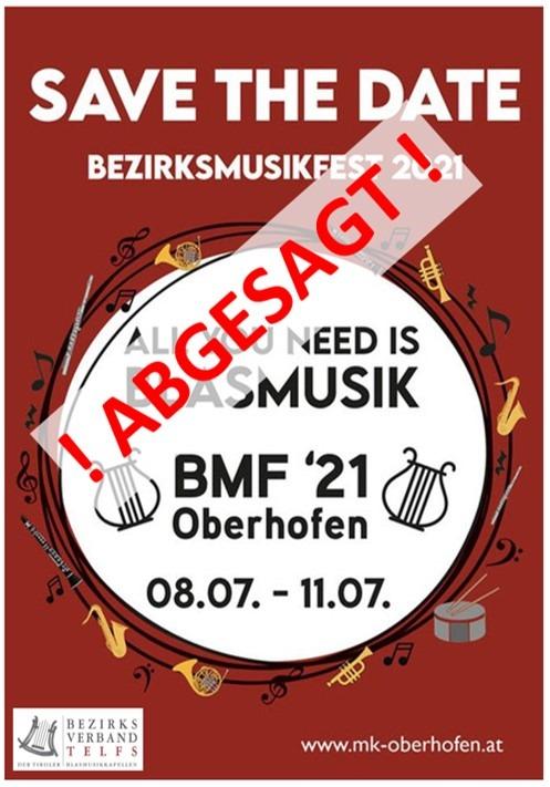 BMF2021 abgesagt